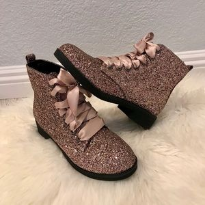Dirty Laundry Pink Glitter Boots